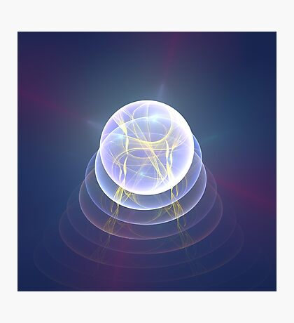 Planet Light #Fractal Art Photographic Print