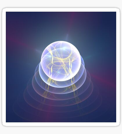 Planet Light #Fractal Art Sticker