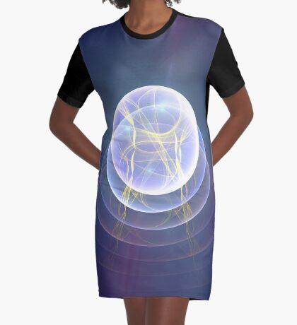 Planet Light #Fractal Art Graphic T-Shirt Dress