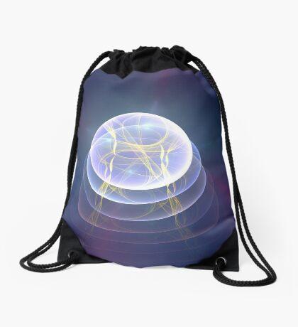 Planet Light #Fractal Art Drawstring Bag