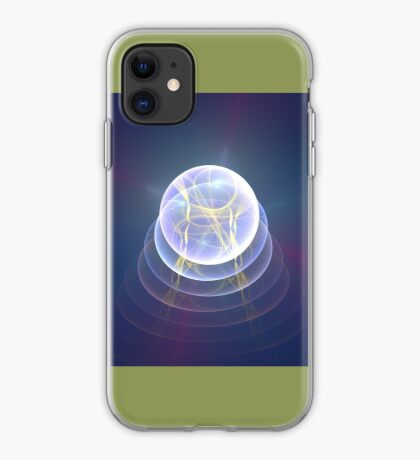 Planet Light #Fractal Art iPhone Case