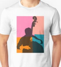 Jazz Acoustic Bass Player Unisex T-Shirt