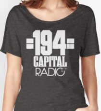 NDVH Capital Radio (1) - white print Women's Relaxed Fit T-Shirt