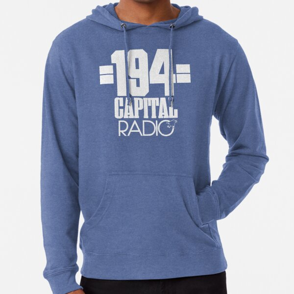 NDVH Capital Radio (1) - white print Lightweight Hoodie