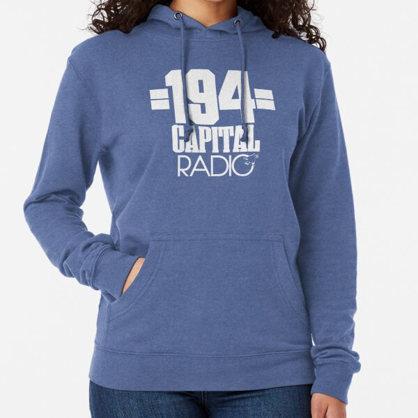 NDVH Capital Radio (1) - white print Lightweight Hoodie