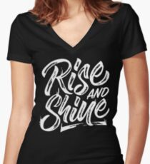 Rise and Shine Women's Fitted V-Neck T-Shirt