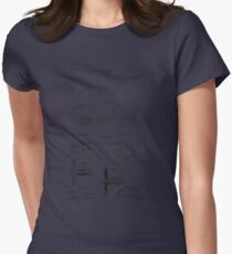Patent - Bicycle Womens Fitted T-Shirt