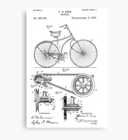 Patent - Bicycle Canvas Print