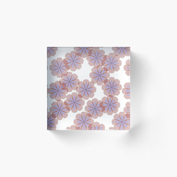Flowerfall Acrylic Block