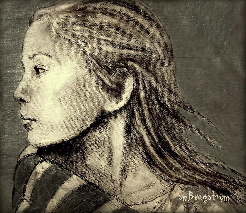 Mariah Drawing by Susan McKenzie Bergstrom