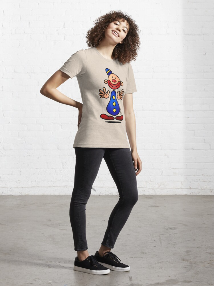 Alternate view of Cheerful circus clown Essential T-Shirt
