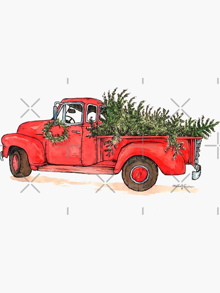Little Red Christmas Truck by Csieben