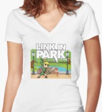 Link In Park Women's Fitted V-Neck T-Shirt