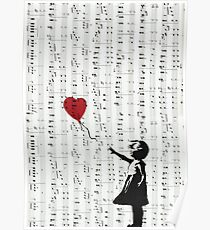 Girl With a Red Balloon by Banksy, Contemporary Street Art  Poster