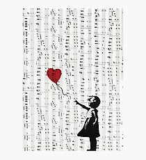 Girl With a Red Balloon by Banksy, Contemporary Street Art  Photographic Print