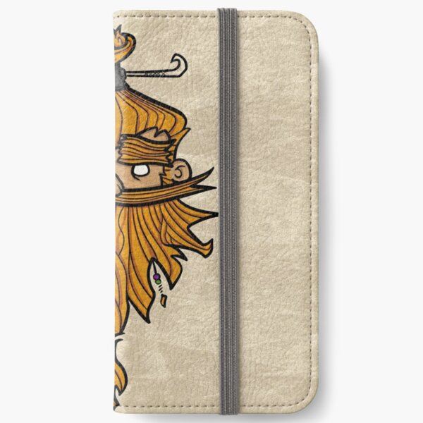 Sweet Nordic Blond Viking w.background iPhone Wallet