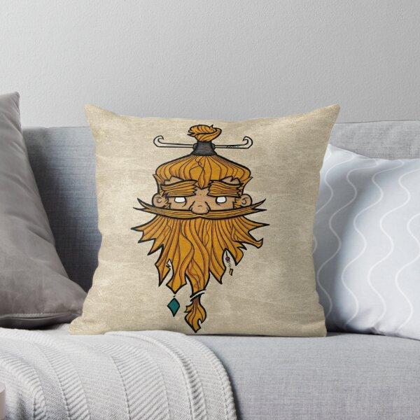 Sweet Nordic Blond Viking w.background Throw Pillow