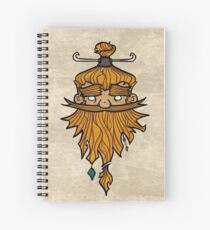 Sweet Nordic Blond Viking w.background Spiral Notebook