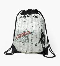 Social Art, Banksy Print, Follow your dreams - CANCELLED, Street Art Drawstring Bag