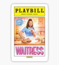 Waitress Opening Night Playbill Sticker