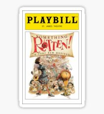 Something Rotten Playbill Sticker