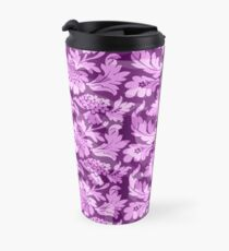 Floral - Pink High Contrast Travel Mug