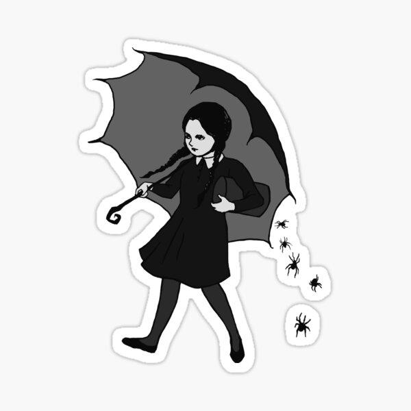 Scary Girl Sticker