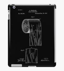 Patent - Toilet Paper (White) iPad Case/Skin