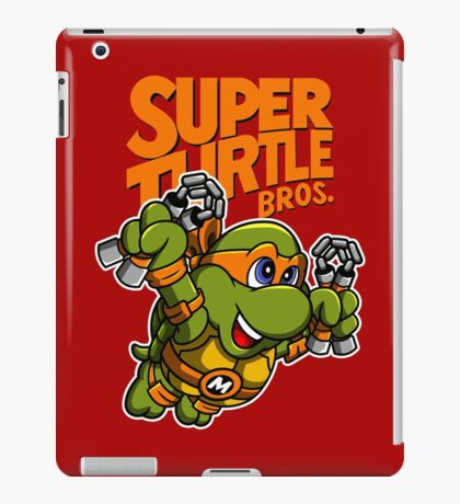 Super Turtle Bros - Mikey iPad Case/Skin
