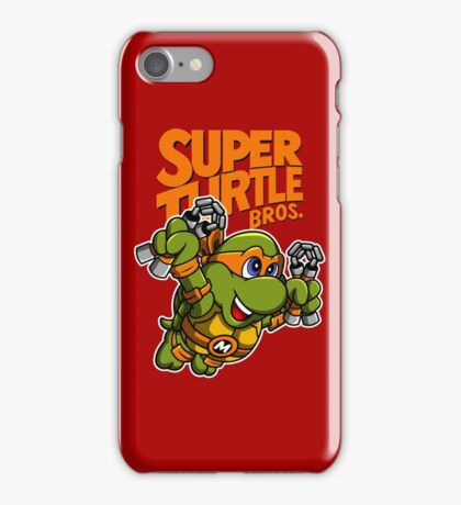 Super Turtle Bros - Mikey iPhone Case/Skin