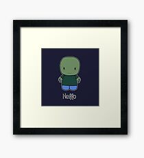 Hello Salad Fingers Framed Print