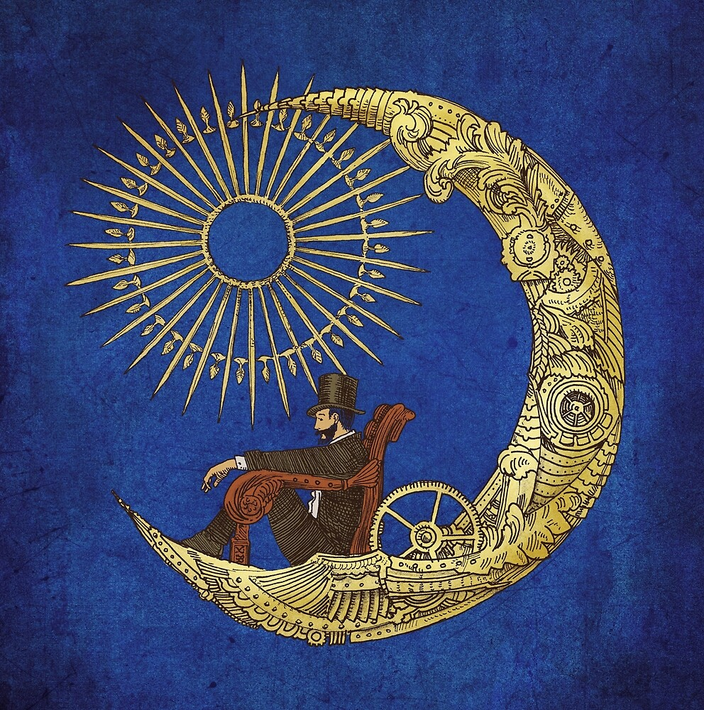 Moon Travel (Blue) by Eric Fan