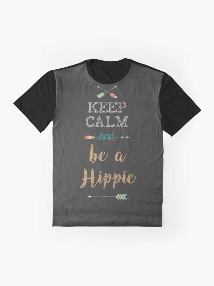 Vista alternativa de Camiseta gráfica Keep Calm and be a Hippie