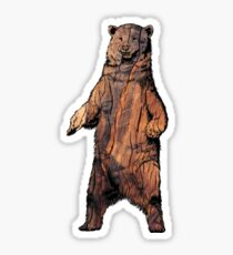 Wood Bear Sticker
