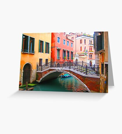 Canal of dreams Greeting Card