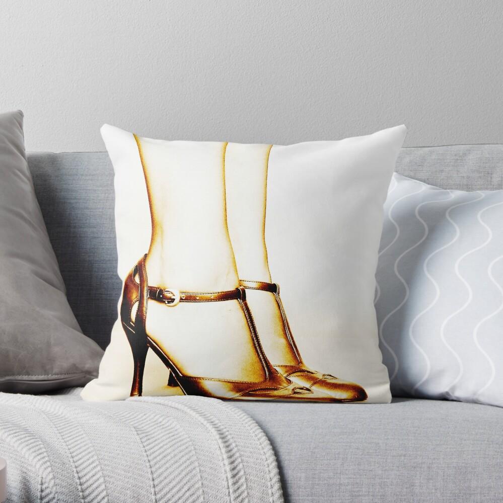 Legs in Sepia Throw Pillow