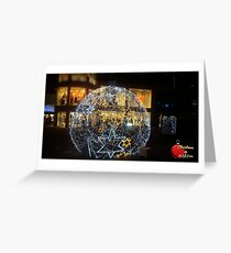 Christmas in Brighton - Shopping Center Twinkling Bauble Greeting Card