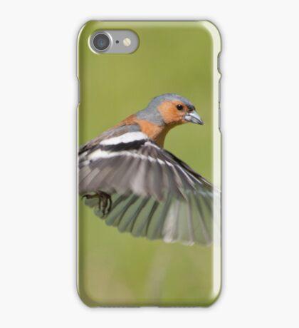 Chaffinch in flight iPhone Case/Skin
