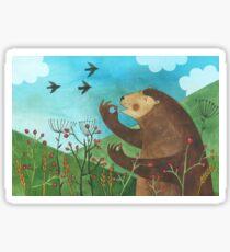 Bear eats hawthorn Sticker