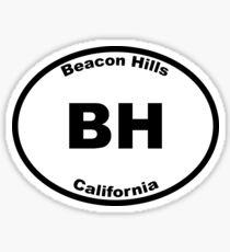 Beacon Hills - Euro Style Car Sticker Sticker