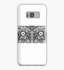 Raw Rough Mean Angry Evil Eyes Sharp Detailed Hand Drawn Samsung Galaxy Case/Skin