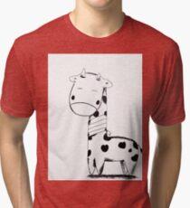 Injured Giraffe Tri-blend T-Shirt