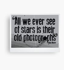 All we ever see of Stars Canvas Print