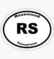Rosewood - Euro Style Car Sticker Sticker