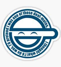 Laughing man Sticker
