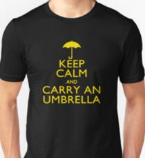 Keep Calm And Carry An Umbrella Unisex T-Shirt