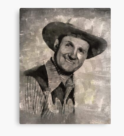 Gene Autry, Western Actor and Singer Canvas Print