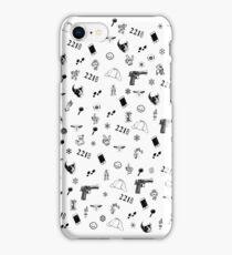 Sherlock Christmas pattern iPhone Case/Skin