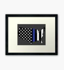 Thin Blue Line - America Framed Print