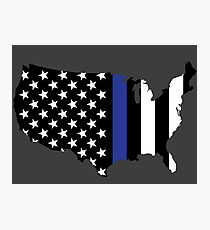 Thin Blue Line - America Photographic Print
